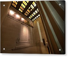 Acrylic Print featuring the photograph Gettysburg Address--inside The Lincoln Memorial by John King