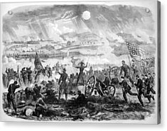 Gettysburg Battle Scene Acrylic Print by War Is Hell Store