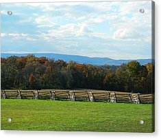 Acrylic Print featuring the photograph Gettysburg Battlefield And Beyond by Emmy Marie Vickers