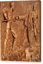 Gettysburg Bronze Relief Acrylic Print by Eric  Schiabor