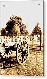 Gettysburg Cannon Acrylic Print by Utopia Concepts
