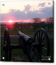 Gettysburg Cannon Acrylic Print by Eric  Schiabor