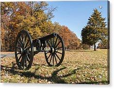 Gettysburg - Cannon In East Cavalry Battlefield Acrylic Print