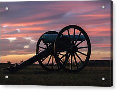 Gettysburg - Cannon On Cemetery Ridge At First Light Acrylic Print