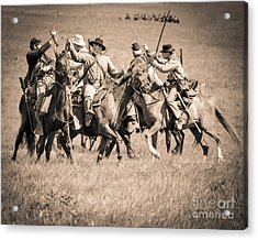 Gettysburg Cavalry Battle 7948s  Acrylic Print