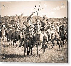 Gettysburg Cavalry Battle 7992s  Acrylic Print