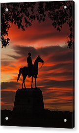 Gettysburg - Gen. Meade At First Light Acrylic Print