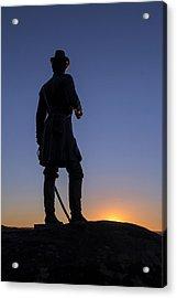 Gettysburg - Gen. Warren At Sunset Acrylic Print
