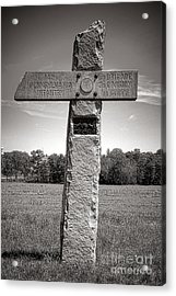 Gettysburg National Park 142nd Pennsylvania Infantry Monument Acrylic Print by Olivier Le Queinec