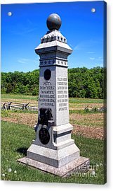 Gettysburg National Park 147th New York Infantry Memorial Acrylic Print by Olivier Le Queinec