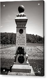 Gettysburg National Park 147th New York Infantry Monument Acrylic Print by Olivier Le Queinec