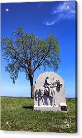 Gettysburg National Park 17th Pennsylvania Cavalry Memorial Acrylic Print by Olivier Le Queinec