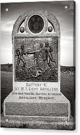 Gettysburg National Park 1st New York Light Artillery Monument Acrylic Print
