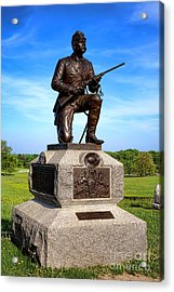 Gettysburg National Park 1st Pennsylvania Cavalry Memorial Acrylic Print by Olivier Le Queinec