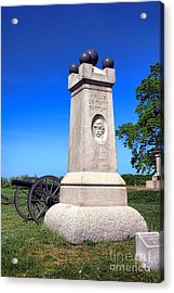 Gettysburg National Park 2nd Maine Battery Memorial Acrylic Print by Olivier Le Queinec