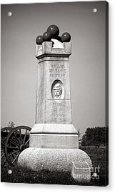 Gettysburg National Park 2nd Maine Battery Monument Acrylic Print by Olivier Le Queinec