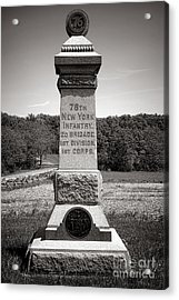 Gettysburg National Park 76th New York Infantry Monument Acrylic Print by Olivier Le Queinec