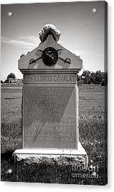 Gettysburg National Park 8th Illinois Cavalry Monument Acrylic Print by Olivier Le Queinec