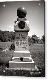 Gettysburg National Park 95th New York Infantry Monument Acrylic Print by Olivier Le Queinec