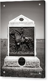 Gettysburg National Park 9th New York Cavalry Monument Acrylic Print by Olivier Le Queinec