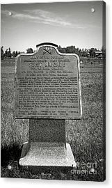 Gettysburg National Park Army Of The Potomac First Brigade Monument Acrylic Print by Olivier Le Queinec
