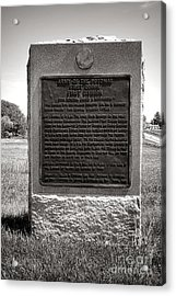 Gettysburg National Park Army Of The Potomac First Division Monument Acrylic Print by Olivier Le Queinec