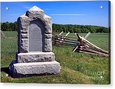 Gettysburg National Park Third West Virginia Cavalry Memorial Acrylic Print by Olivier Le Queinec