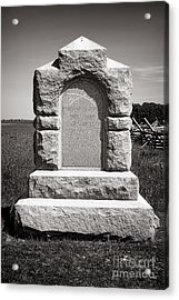 Gettysburg National Park Third West Virginia Cavalry Monument Acrylic Print by Olivier Le Queinec