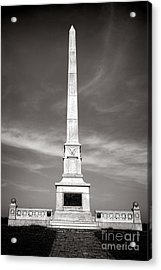 Gettysburg National Park United States Army Regulars Monument Acrylic Print by Olivier Le Queinec