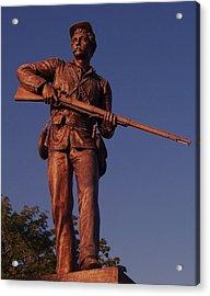 Gettysburg Statue Acrylic Print by Eric  Schiabor