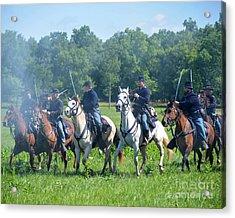 Gettysburg  Union Cavalry Acrylic Print