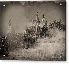 Gettysburg Union Infantry 8947s Acrylic Print