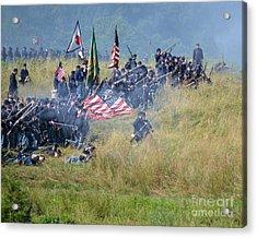 Gettysburg Union Infantry 8963c Acrylic Print