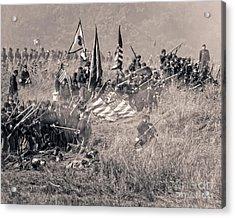 Gettysburg Union Infantry 8963s Acrylic Print