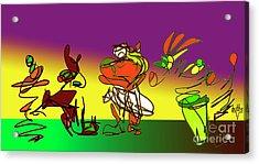 Ghana Drum  Purple Acrylic Print