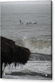 Acrylic Print featuring the photograph Ghana Fishermen by Erik Falkensteen