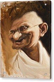 Ghandi Acrylic Print by Court Jones