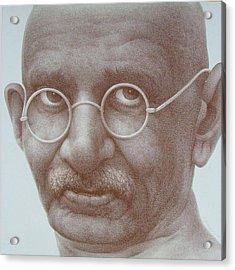 Ghandi Acrylic Print by Gary Kaemmer