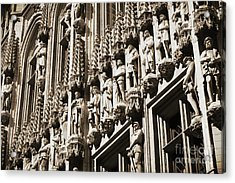 Brussels Gothic In Sepia Acrylic Print