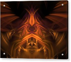 Ghost Flame Manipulator Acrylic Print by Ricky Jarnagin
