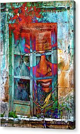 Acrylic Print featuring the digital art Ghost Goes Through Wall by Silva Wischeropp