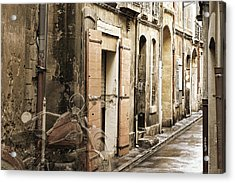 Ghost Harley On Narrow Street Acrylic Print by Gary Gunderson