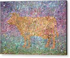 Ghost Of A Cow Acrylic Print by James W Johnson