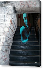 Ghost Of Pain - Self Portrait Acrylic Print by Jaeda DeWalt