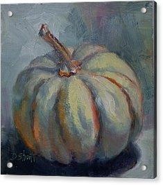 Ghost Pumpkin Acrylic Print by Donna Shortt
