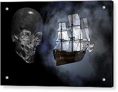 Ghost Ship Acrylic Print by Claude McCoy