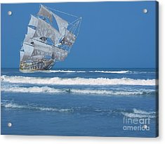 Ghost Ship On The Treasure Coast Acrylic Print