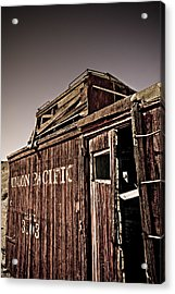 Ghost Town Caboose Acrylic Print by Patrick  Flynn