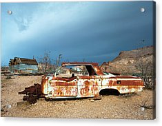 Acrylic Print featuring the photograph Ghost Town Old Car by Catherine Lau