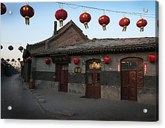 Ghost Town On The Eve The Chinese New Year Acrylic Print